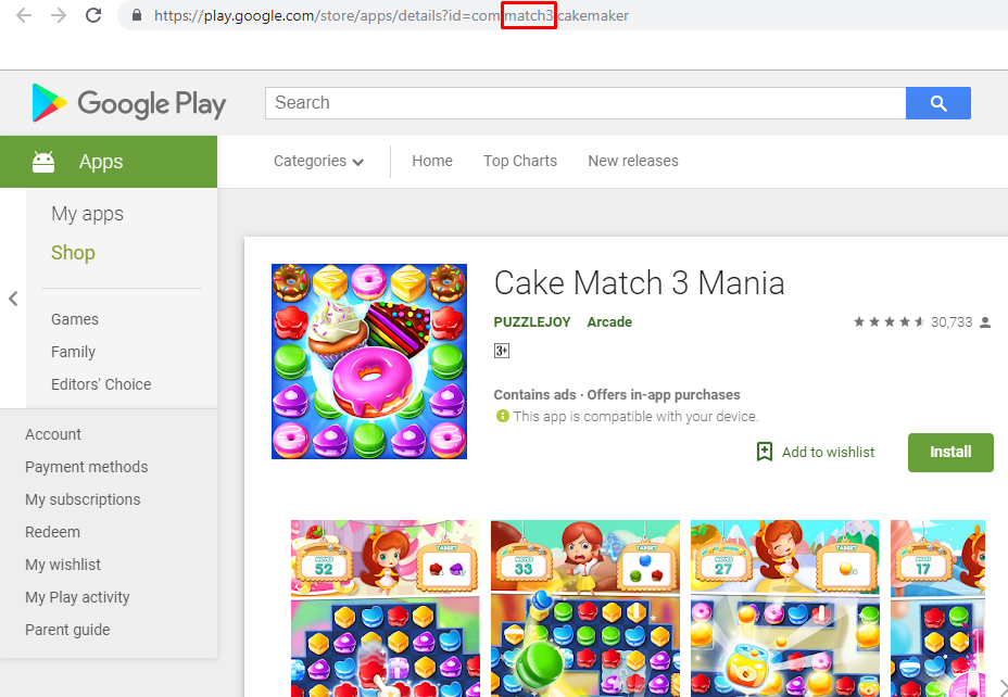 Cake Match 3 Mania