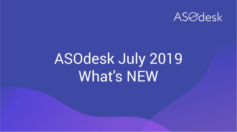 ASOdesk Updates