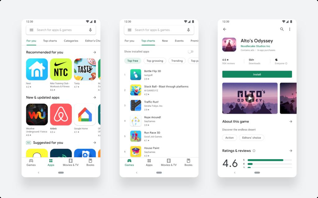 New Google Play design