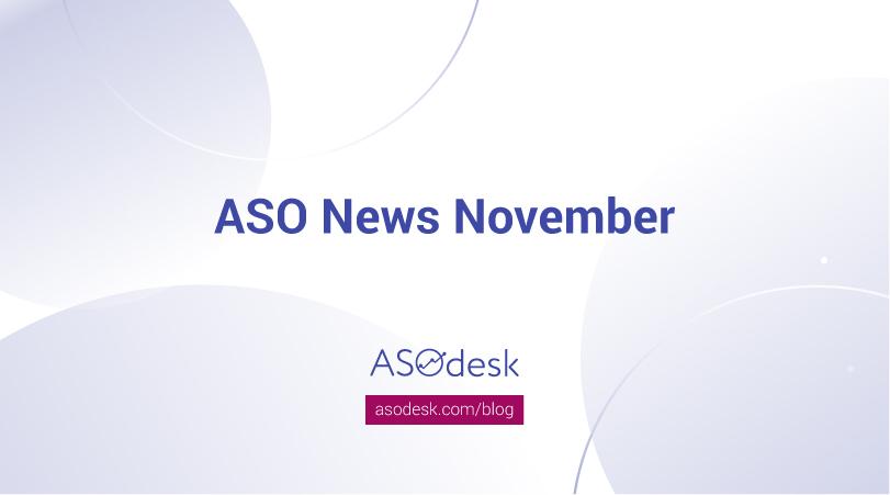 ASO news November