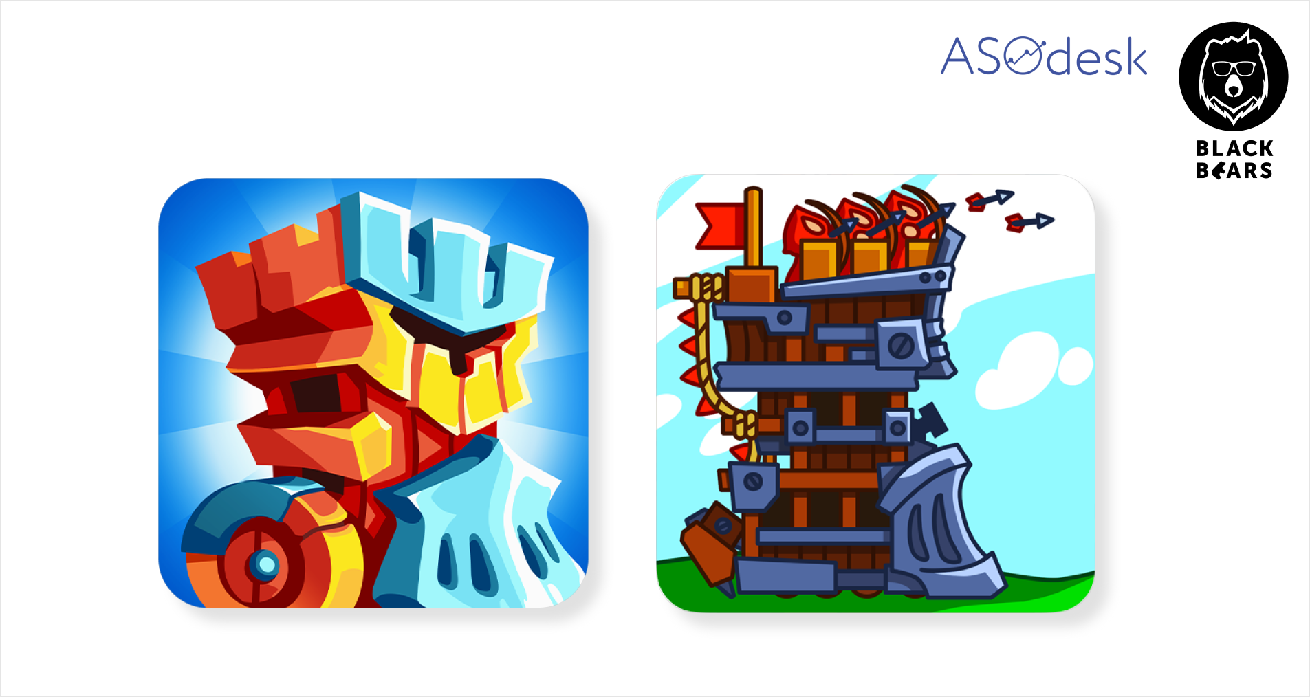A/B testing of the Towerlands app icon