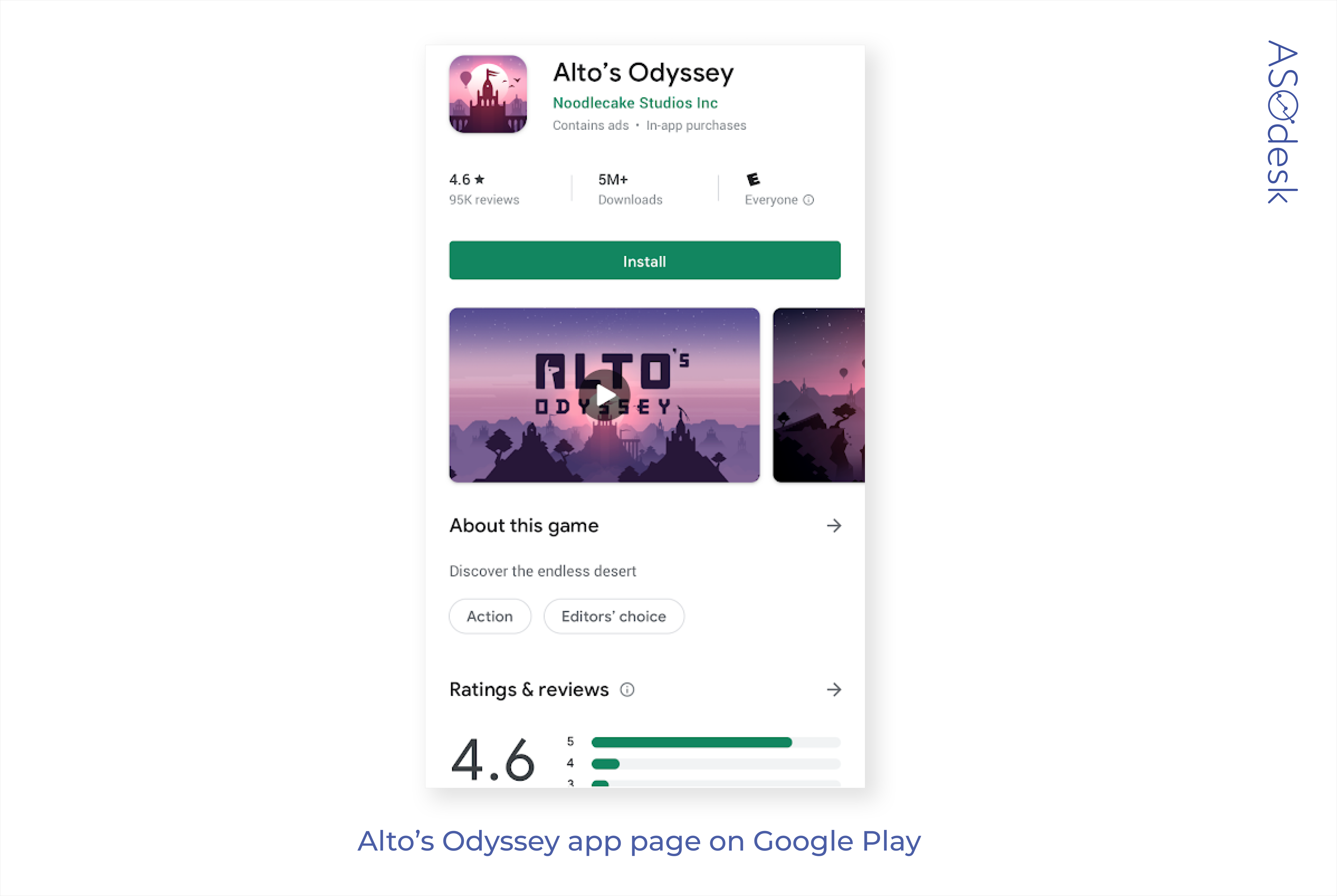 The app page example on Google Play