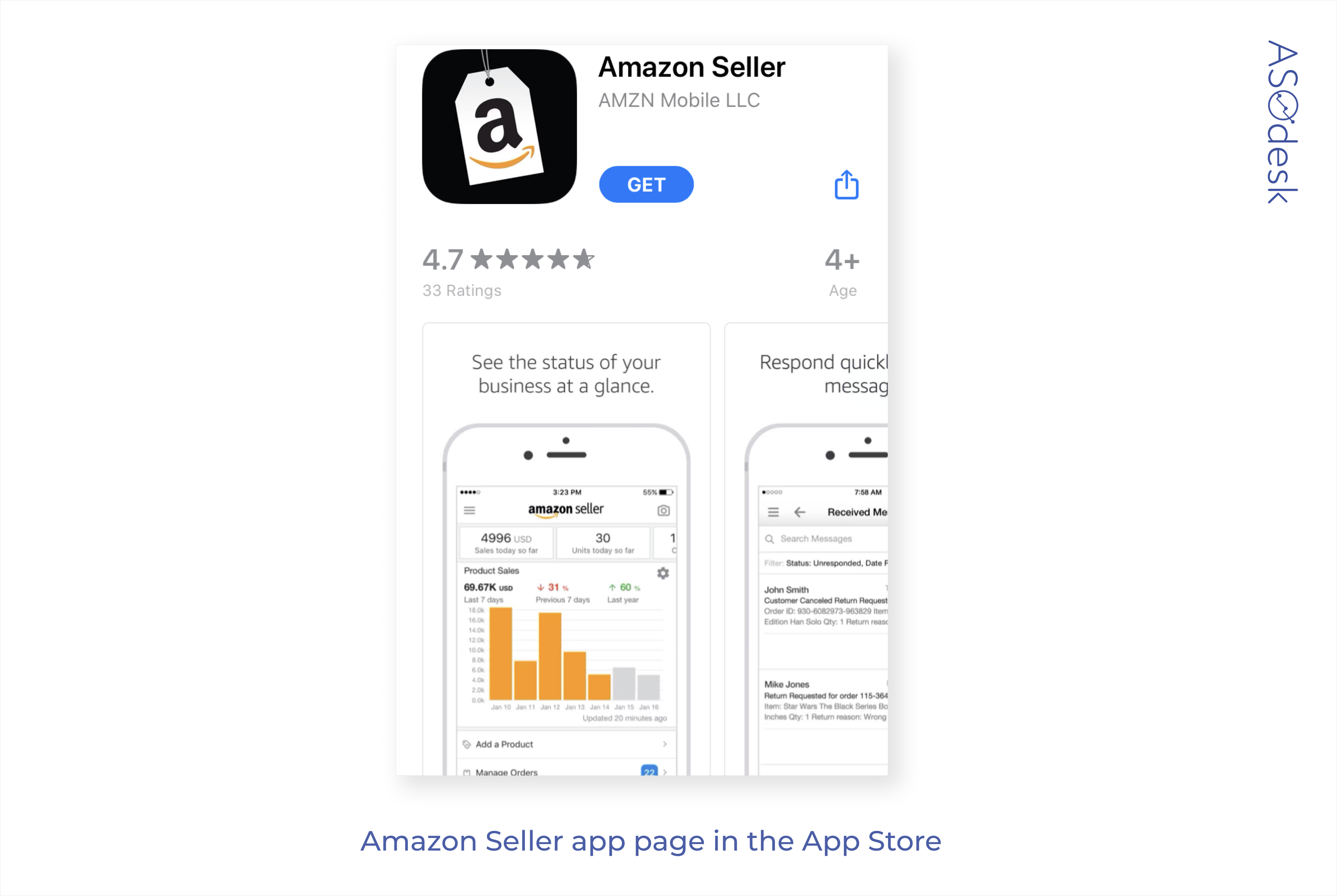 The App Store app page example