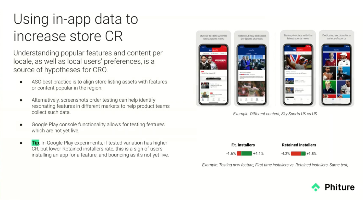 Phiture told about how these apps data help improve CR