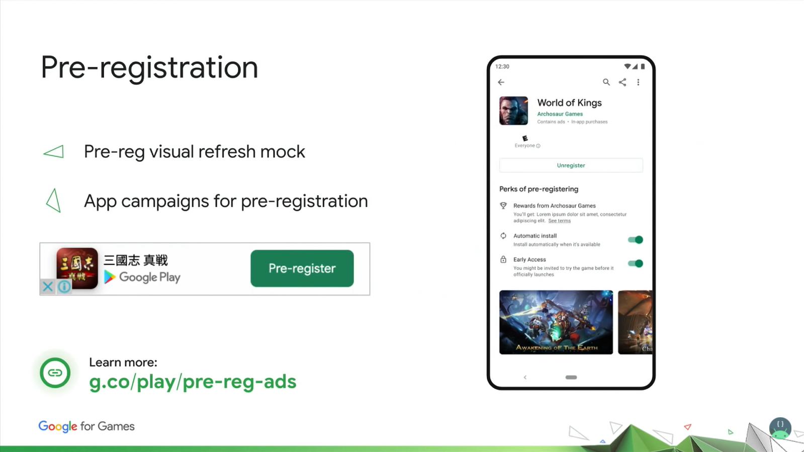 Pre-registration in Google Play