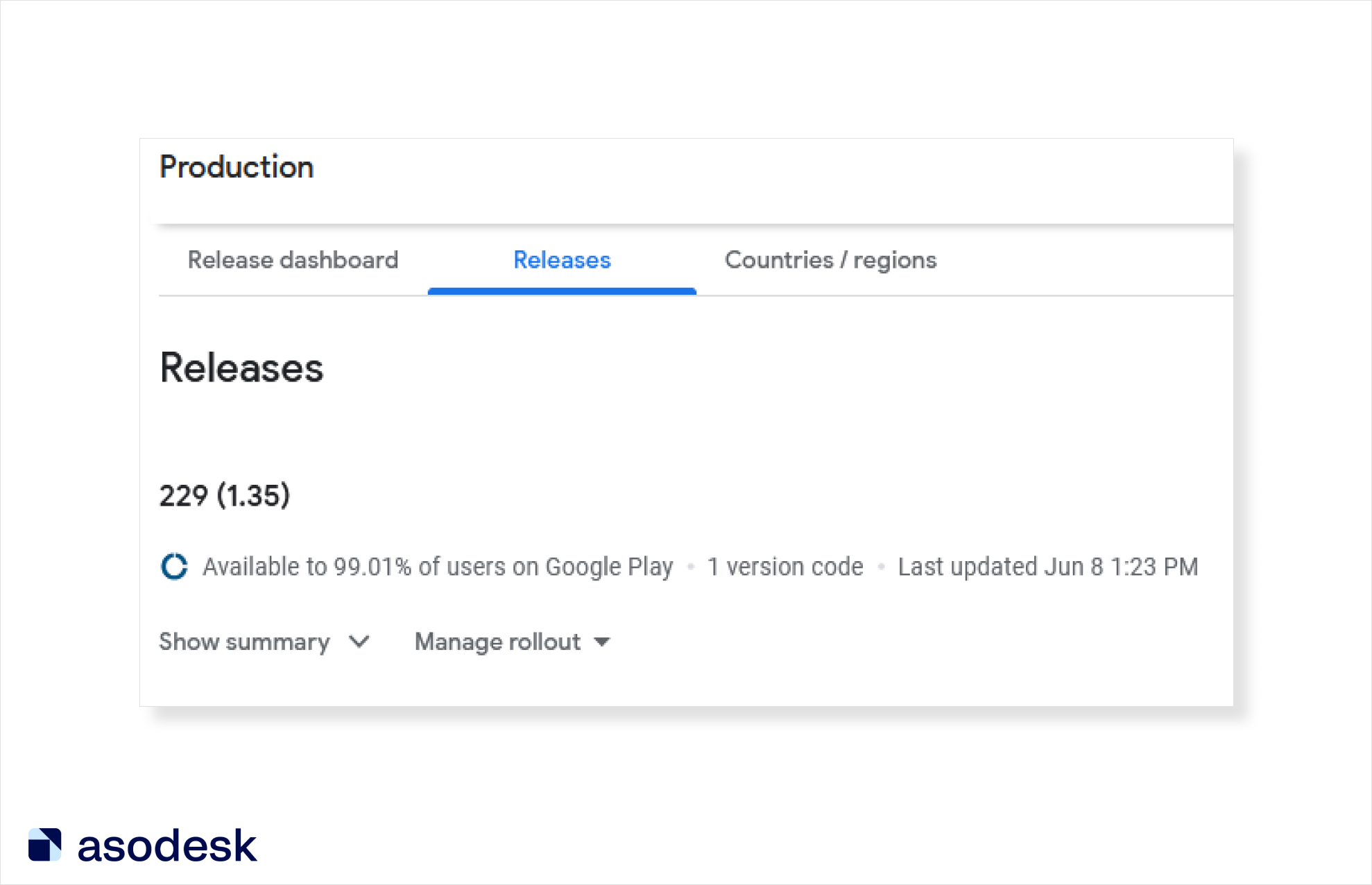 On Google Play, you can choose which part of the audience to release to