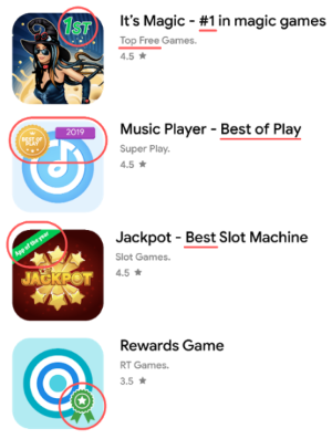 Google gave examples of violation of rules in Google Play
