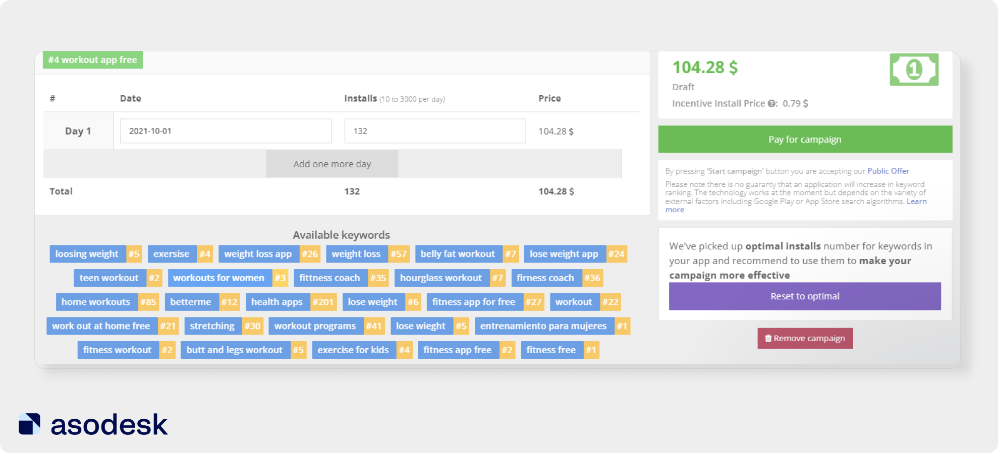 Keyword Boost in Asodesk helps you to get the top positions for the right keywords