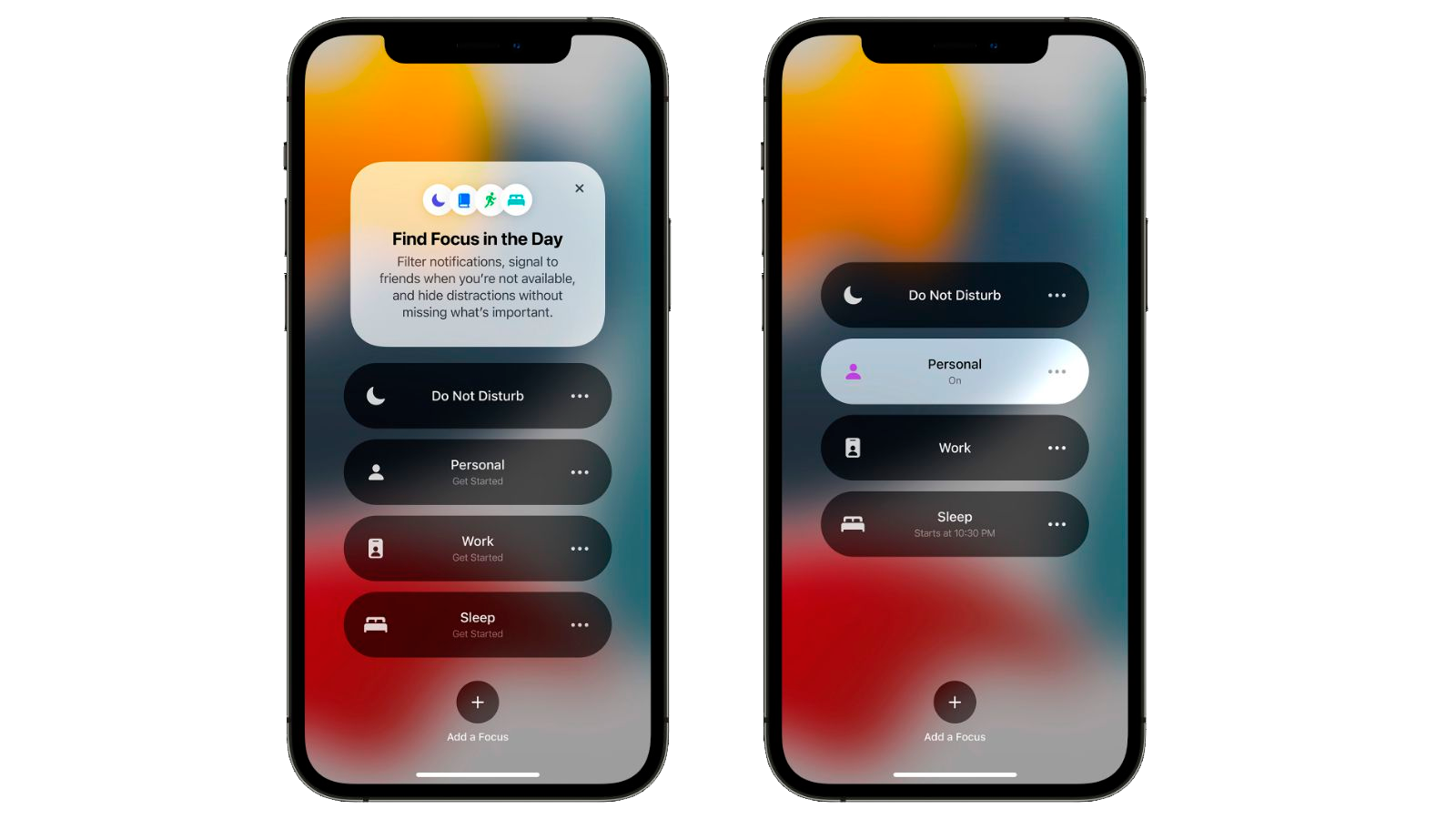 With the help of Focus you can manage your notifications in Apple devices